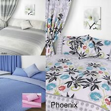 Floral Spots Duvet Cover Quilt Set And Pillow Case(s) Or Bedroom Curtains