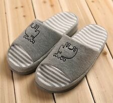 Slippers Home Indoor Cotton Non-slip Comfortable Open Toe Cute Shoes