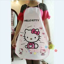 New Cute Cartoon Hello Kitty Doraemon PE Transparent Apron Waterproof Oil Proof