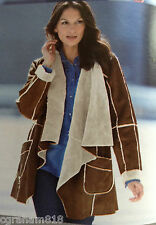 Kaleidoscope Faux Sheepskin Waterfall Jacket Sizes 12 & 14