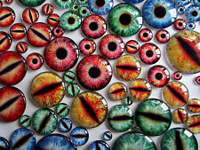Taxidermy Glass Dragon, Doll, Monster Eyes, Red 20mm, 25mm, 30mm