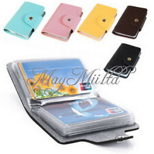 PU Leather Pocket Business Credit ID Card Holder Case Wallet for 24 Cards