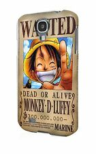 0554 One Piece anime Wanted Chopper case Iphone Samsung galaxy Hard plastic slim