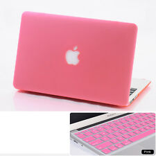 Pink Rubberized Hard Case KB Cover For Macbook Air Pro 11 13 15 '' +Retina