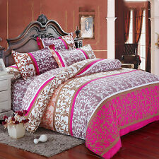Single Double King Duvet Cover + Pillow Case + Sheet Bedding Set Soft Cotton New