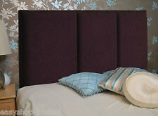 Deluxe SQUARE LINE Chenille Fabric Headboards Single Double Queen Size on Ebay