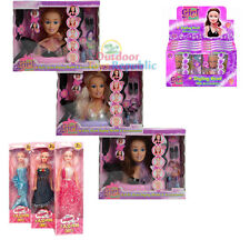 Doll Styling Head Hairdressing Toy Model Hair Accessories Girls Beauty Play Set
