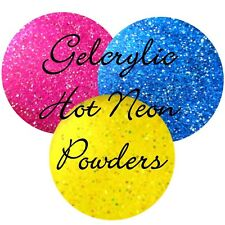 Gelcrylic Hot Neon Acrylic Powder Fluorescent Sprinkle Dipping Acrylic 1/4 oz