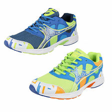 Mens ACTIVE Lace-Up Trainers in Royal Blue Mix or Neon Green Mix by Airtech