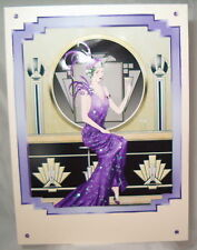 Art Deco Birthday Card Lady Sitting at the Bar (can be personalise)
