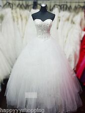 Pure white sequin deb wedding dress,corset lace up back,tight top,big skirt
