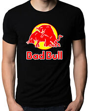 Bad Bull Funny Red Bull Logo Sex Graphic Parody Mens Womens T-Shirt S M L XL XXL