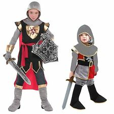 Boys Kids Medieval Tudor King Knight Fancy Dress Up Costume Outfit New 4-6 8-10