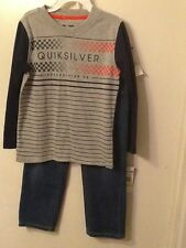 Toddler Boys Quicksilver Shirt and Jean Set/ Size: 3T 4T/ NWT
