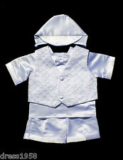 Boy  Infant Toddler Christening Baptism Outfit Set ,Sz:X-Small to 4T