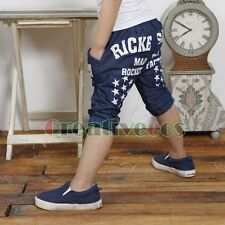 Trendy Kids Boys Letter Stars Trousers Toddlers Short Pants Costume 2-7 Years