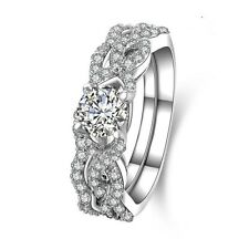Luxury 1 Carat Diamond Cushion Cut Engagement Wedding Ring Set