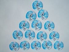 """15 count 1"""" Frozen Olaf snowman Inspired buttons pinbacks flatbacks crafts"""