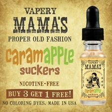 Mama's Caramel Apple Suckers Flavor USA 20% to 80% VG e Hookah eHookah Vape Pops