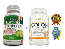 PURE GARCINIA CAMBOGIA EXTRACT & COLON Cleanser/DETOX for WEIGHT LOSS/Digestion