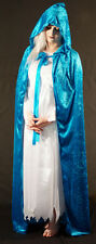 Medieval/SCA/Larp/Re enactment/Pagan KINGFISHER  BLUE HOODED CLOAK all sizes