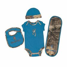 OFFICIALLY LICENSED BROWNING BUCKMARK BRILLIANT BLUE 4 PC BABY CAMO SET