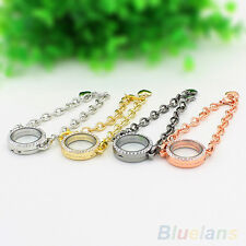 HOT SALE OPENABLE CRYSTAL LIVING MEMORY LOCKETS BRACELET FOR FLOATING CHARMS DIY