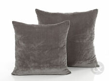 Modern Velvet Grey Cushions – Luxury Soft Scatter Small & Large Cushion Cover
