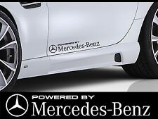 "2 pcs POWERED BY MERCEDES BENZ AMG Side Skirt Decals stickers 23"" Choice Color"