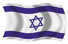 Isreal Isreali Waving Flag Vinyl Bumper Decal Sticker Choose Size
