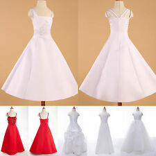 SUPER CHEAP White Flower Girl Pageant Party Wedding Formal Evening Dress 2-12 YS