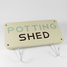 Funny Garden Themed Sign Wall Plaque with Hooks-Potting Shed,Various Designs