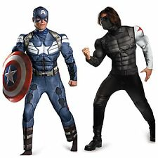 Captain America Winter Soldier Adult Muscle Costumes- CAPT/ WINTER SOLDIER AVAIL