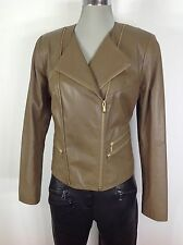 Cole Haan  NWT Olive Glovetouch lamb Asymetrical zipper,  size M
