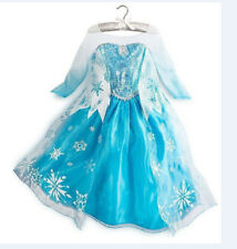 2014! HOT! Girls Costumes Child Dress Disney Frozen Princess Elsa Fancy 3-8T