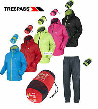 Trespass Outdoor Waterproof Jacket & Trousers QikPac Quick Pack Mens Ladies