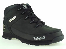 MENS TIMBERLAND 6361R EURO SPRINT HIKER BLACK LEATHER ANKLE BOOTS SIZE UK 7-11.5