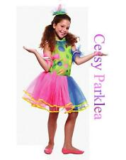 Circus Clown Girls Costume Party Colourful Outfit  Year 2 3 4 5 6 7 S M L AU
