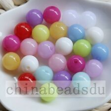 18MM Jelly Colors Acrylic Round Beads Spacer Pony Beads Charms Free Shipping