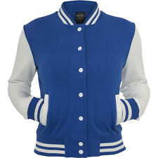 Urban Classics Ladies - College Sweatjacket royal / weiss
