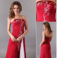 Old Embroidery Bridal Bridesmaid Wedding Banquet Evening Cocktail Prom Dress HOT