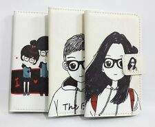 Cute Lovely Girl &Boy Flip Pouch Leather Card Wallet Case Cover For HUAWEI Phone
