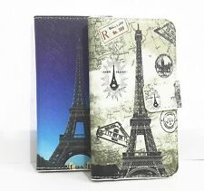 Cute Tower Card slots Wallet Pouch PU leather Case Cover for Samsung cell Phones