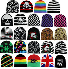 New Short Printed Womens Knit Winter Fashion Warm Ski Beanie