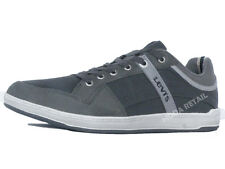 Levi's Mens Shoes Dark Grey Leather Sneakers Trainers 222487-1704