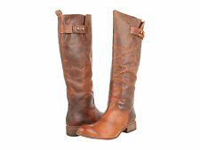 $375 LUCCHESE SPIRIT Leather  WOMENS TALL Western RIDING BOOTS 8 8.5
