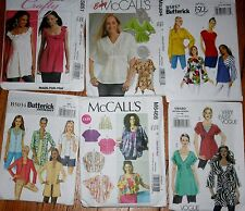 CHOOSE one PATTERN Tops Tunics Jacket sz 6 8 10 12 14 EASY!! Vogue McCall Buttrk