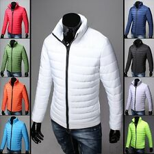 H2507  Stylish Men's WARM  Casual Slim Fit winter Coat Jackets Thin and light