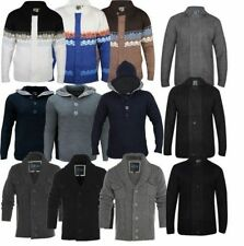 New Soul Star Mens Top Jumper Cardigan Hooded Knit Sweater Casual Smart