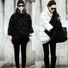 Women's Hot Warm Fashion Stand Collar Duck Down Coat 8 Point Sleeve Loose Jacket